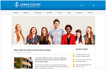 Professional School Website Template: Blue version